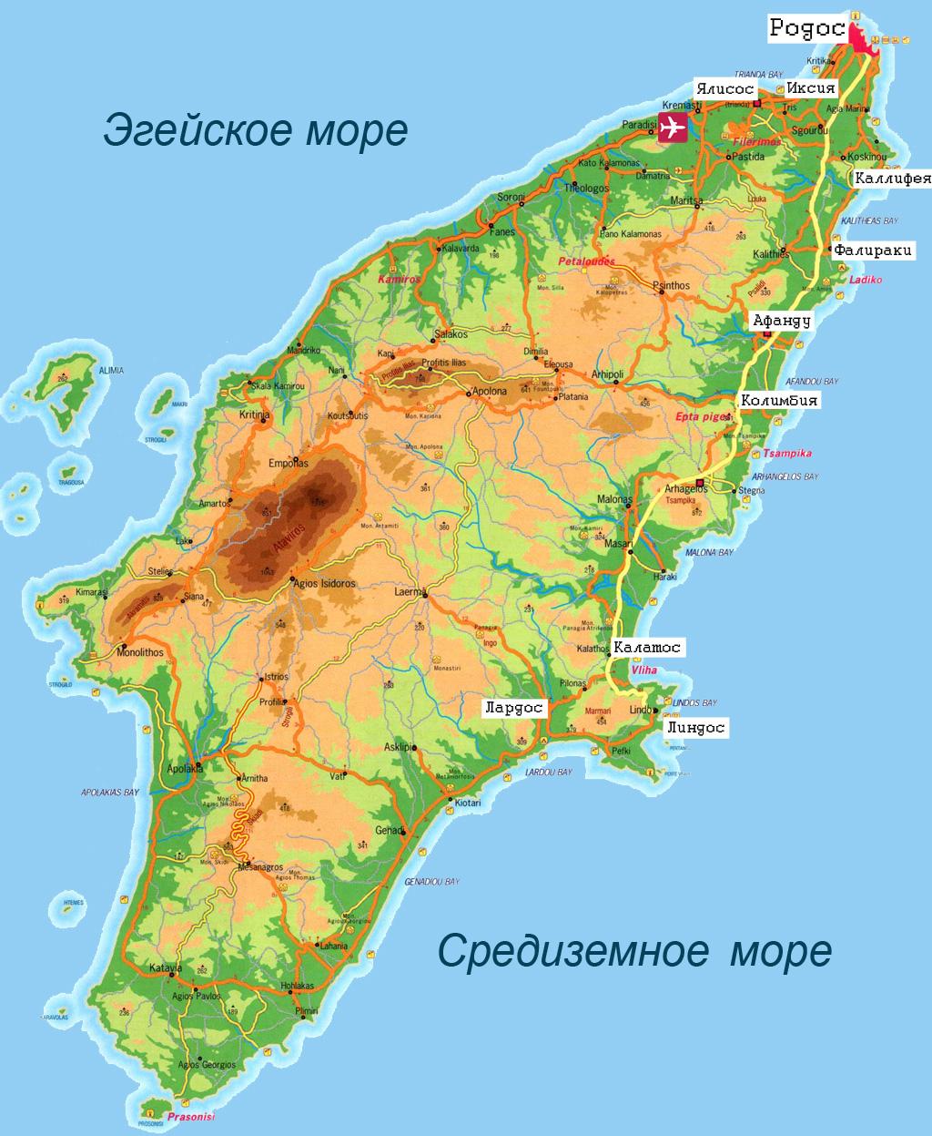 Karta Rodosa Potryasayushij Otdyh Na Rodose Rekomendacii Otelej